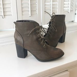 Diba 'Tracey' Lace Up Heel Booties
